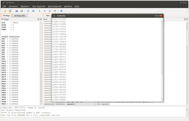 Quick sort implementation in MIPS assembly
